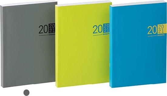 Afbeelding van Schoolagenda 2020-2021 • Brepols • VENETO • flexi • 1 dag p. pagina • Grijs • Kunstleder • 11.5 x 16.9 cm