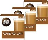 NESCAFÉ® Dolce Gusto® Café au Lait - 3 doosjes a 16 capsules geschikt voor 48 koppen