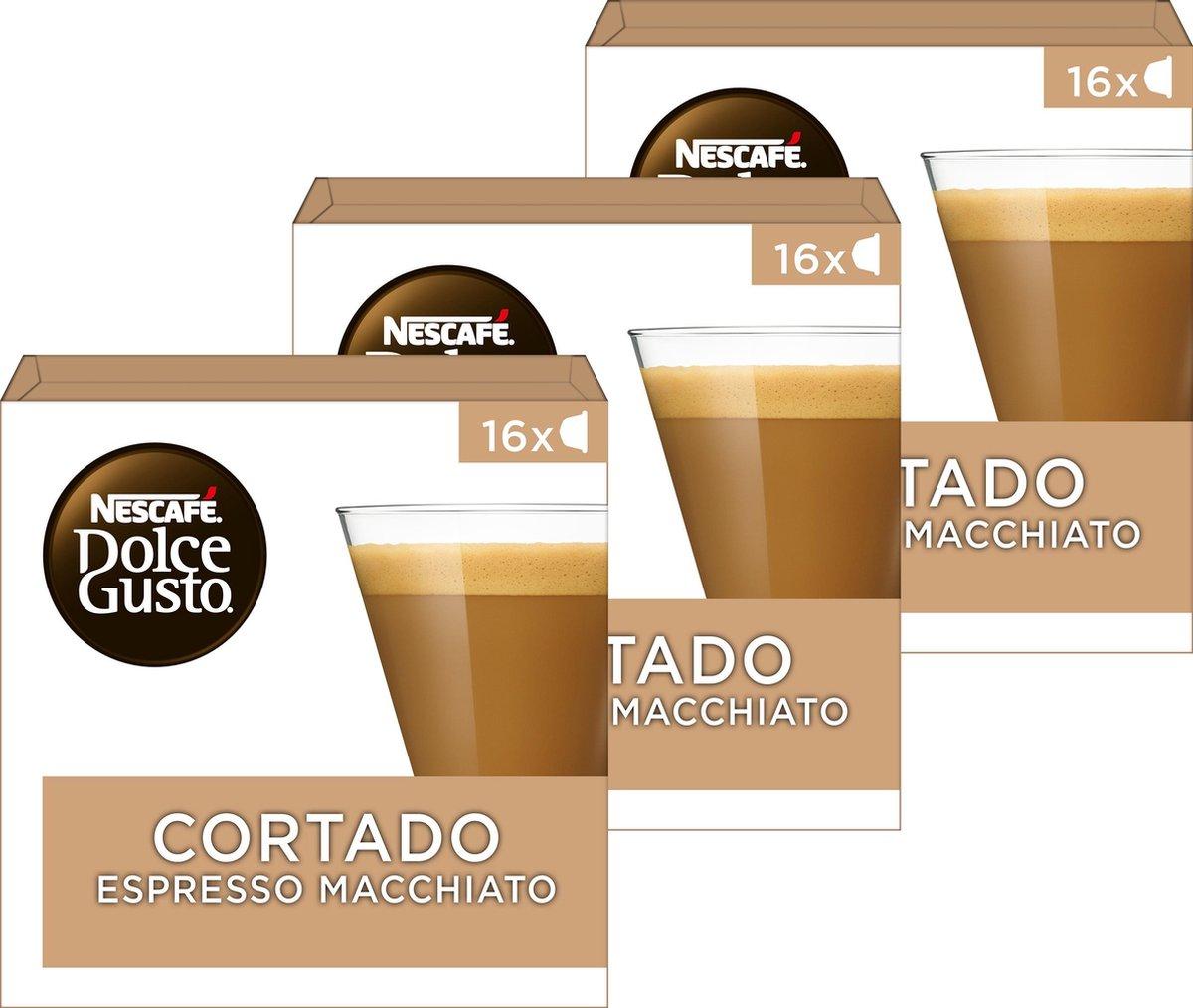 Nescafé Dolce Gusto capsules Cortado Espresso Macchiato - 48 koffiecups - geschikt voor 24 koppen ko