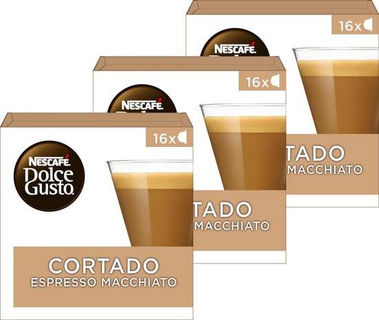 Nescafé Dolce Gusto capsules Cortado Espresso Macchiato - 48 koffiecups - geschikt voor 24 koppen koffie