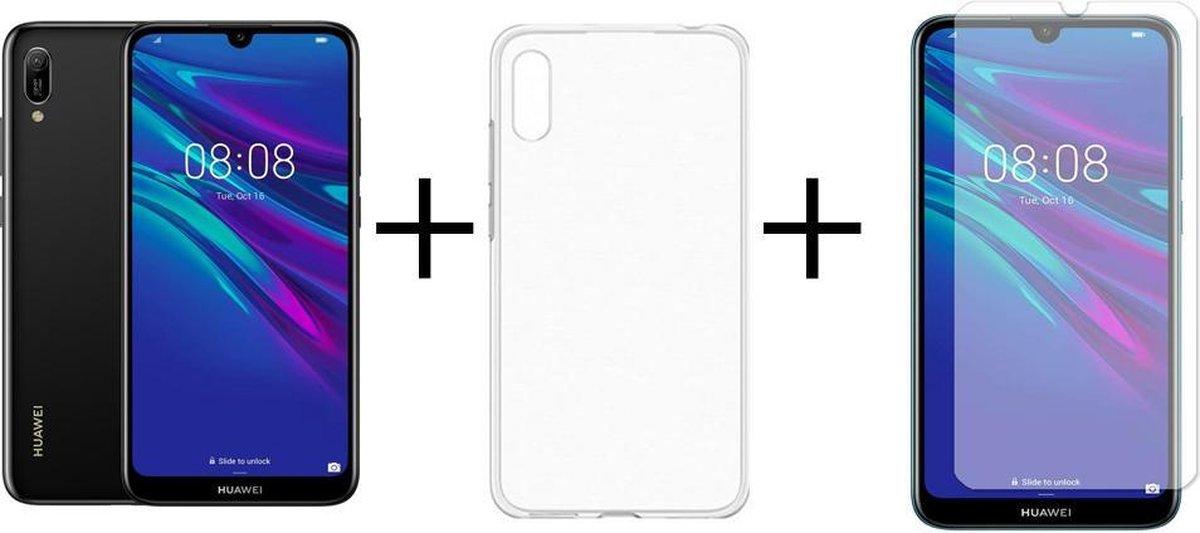 Huawei Y6 (2019) - 16GB - Zwart + Transparant Sillicone Hoesje + Screenprotector kopen