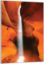 Plexiglas –Woestijngrot met Zonlicht– 80x120cm Foto op Glas (Wanddecoratie op Plexiglas)