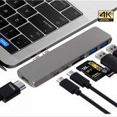 Thunderbolt 3 USB C voor MacBook Pro/Air / 7 in 1 oplossing SD card, HDMI, USB en nog meer!