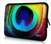 Laptophoes 15,6 inch pauw - Sleevy - laptop sleeve - laptopcover - Collectie 250+ designs