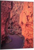 Dibond –Oranje Rotsen– 30x40cm Foto op Aluminium (Wanddecoratie van metaal)