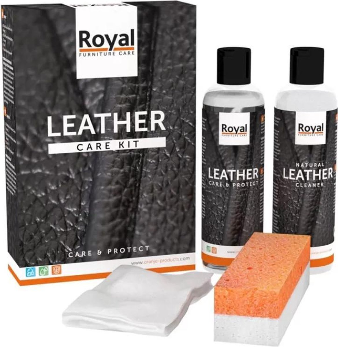 Oranje Furniture Care Leather Care & protection - Onderhoud leer - 2x250 ml - Oranje Furniture Care