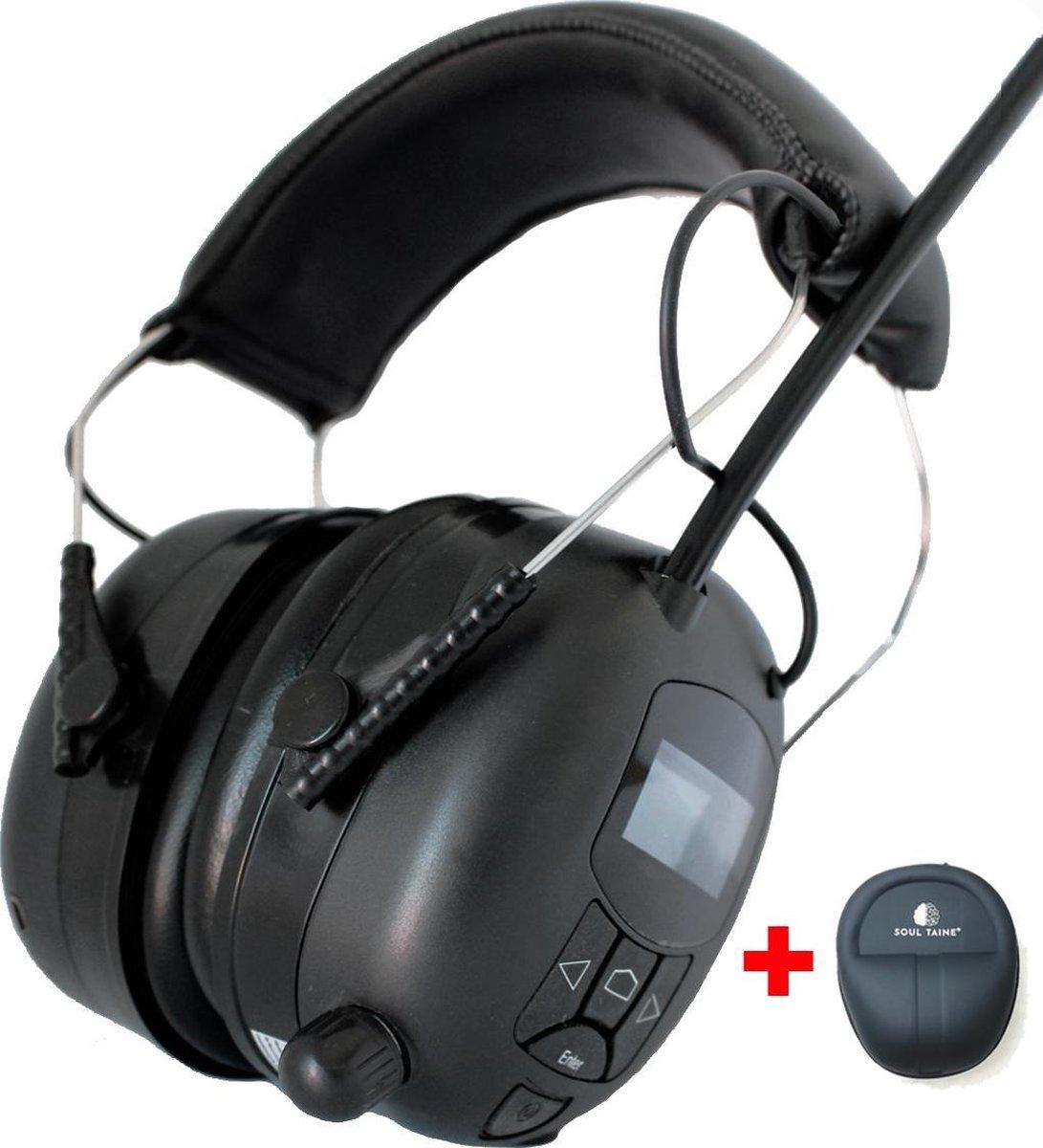 Gehoorbescherming met Radio - DAB+ - Oorbeschermers met Bluetooth en AUDIO ingang - Oplaadbaar - Inc
