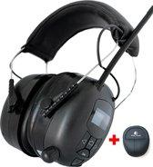 Gehoorbescherming met Radio - DAB+ - Oorbeschermers met Bluetooth en AUDIO ingang - Oplaadbaar - Inclusief Tas - EAR-20-D