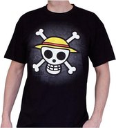 ONE PIECE - T-Shirt Basic Men Skull With Map (S)