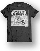 ASTERIX & OBELIX - T-Shirt - Jamais de la Vie - Black (XL)