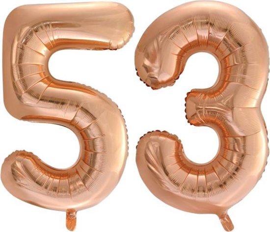Folieballon nr. 53 Rosé Goud 86cm