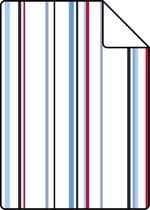ESTAhome A4 staal van behang strepen rood en blauw - 116511 - 21 x 26 cm