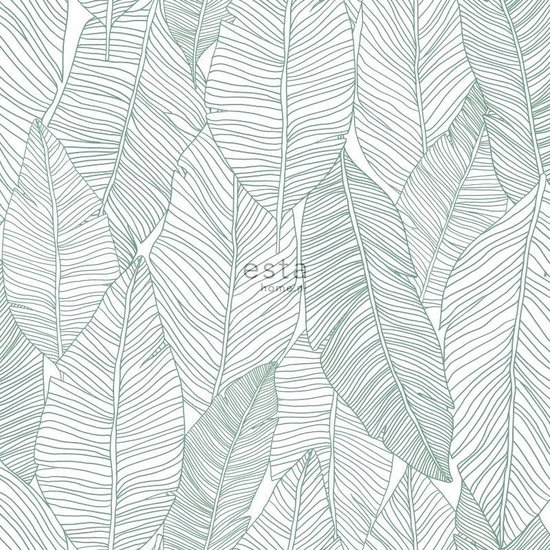 ESTAhome behangpapier getekende bladeren groen - 139010 - ESTAHome