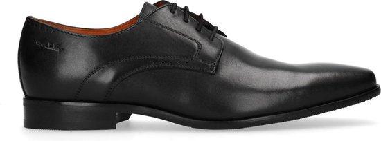 Van Lier - Heren - Zwarte veterschoenen van leer - Maat 43