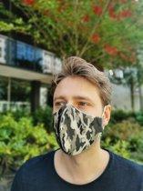 Camouflage | Mondkapje van 100% katoen | Army - Leger print