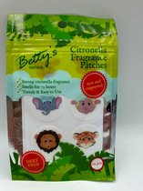 Betty's Citronella Anti muggen bescherming sticker voor op kleding of bed