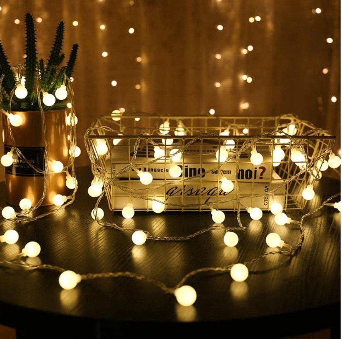 Lumadi Lichtsnoer   Lichtslinger Binnen en Buiten   Fairy Lights - Warm Wit - Lampjes Slinger