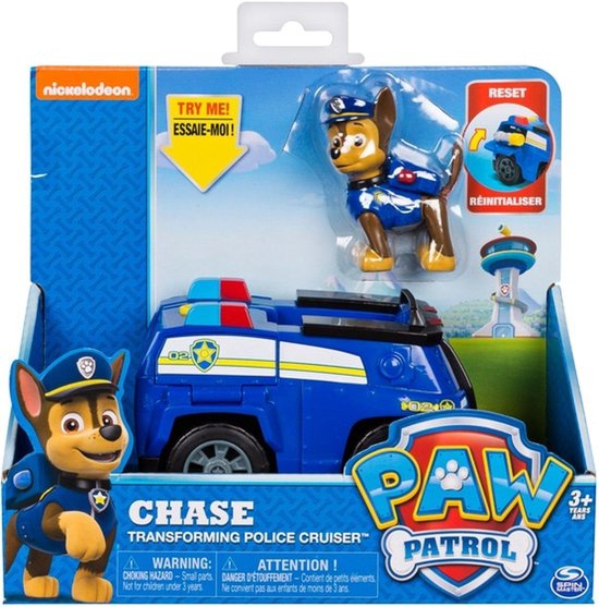 Afbeelding van PAW Patrol Transformerend politie rescue voertuig -  Chase speelgoed