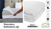 Matrashoes (Dubbeldoek tijk) Anti-allergische Wasbare hoes met rits 90x210 Dikte 20 cm Royalmeubelcenter.nl ®