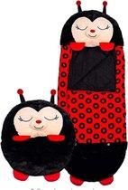 Happy napper -160 cms | slaapzak junior |nappers | Children Sleeping Bag | kinderen slaapzak | Super Soft 2 in 1 Fun Pillow &Sleepy for Boys | lieveheersbeestje slaapzak | zachte slaapzak | knuffel slaapzak | 2 in 1 slaapzak | kinderen