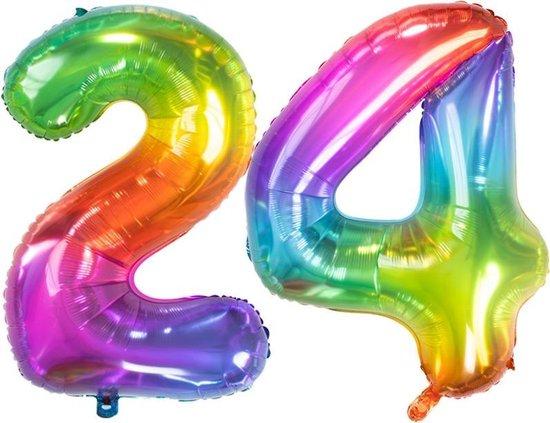 Cijfer 24 Yummy Gummy Rainbow – 86 cm