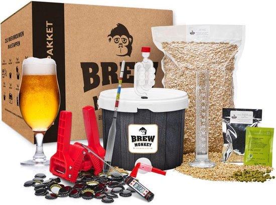Brew Monkey Compleet Blond - Bierbrouwpakket - Zelf bier brouwen pakket - Startpakket