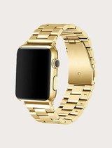 Luxe Metalen Armband Voor Apple Watch Series 1/2/3/4/5/6/SE 38/40 mm Horloge Bandje - iWatch Schakel Polsband Strap RVS - Stainless Steel Watch Band - Goud