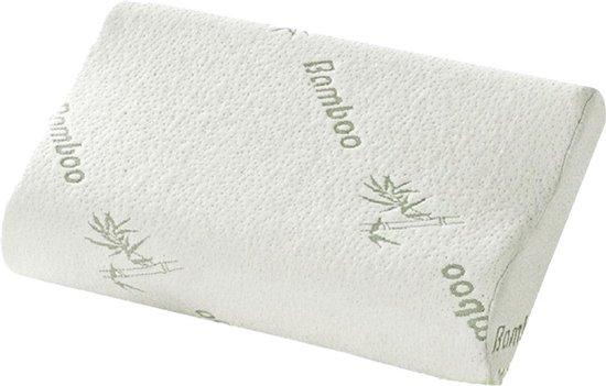 Konbanwa Pillow Bamboo Memory Foam hoofdkussen – 49 X 30 CM