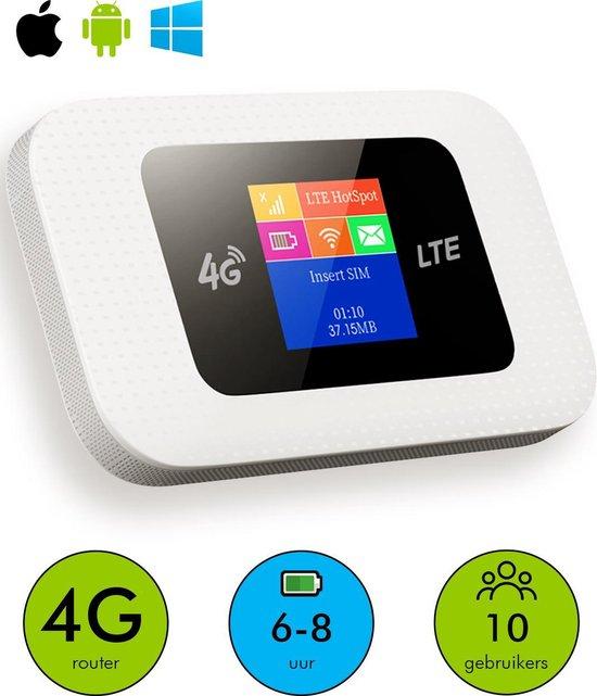 Mifi Router Draadloos Wifi – Mifi Router – Werkt met Simkaart – Mifi – 4G - Router Wifi – 10 Apparaten – 9.9x5.9x1.6 CM