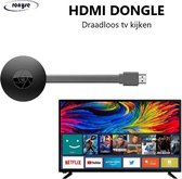 HDMI Dongle -WiFi Miracast - Draadloos tv kijken - Mediastreamer - Miracast - TV stick - TV screencast mirror - 1080p - Airplay - Full HD