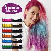 Haarkrijt - Hair Chalk - Haarkrijt Kam - Haarkrijt Voor Kinderen - Pastelkrijt - Krijt - Haarkleuring - Haarverf - Regenboog - Haarmascara - Kinderfeestje - Festival - Feestje - Carnaval - Unicorn - Mermaid - 6 Kleuren