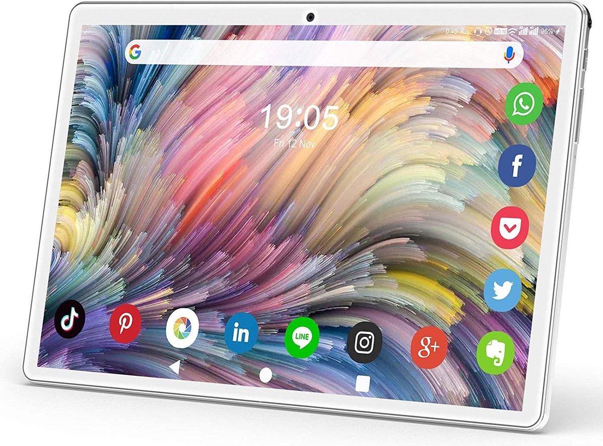 Kindertablet smart Roze - kidstablet disney+ netflix - Tablet 10 inch - 64GB - Android 10.0 - vanaf 2 jaar - Scherp hd ips beeld - leerzame tablet voor kinderen - Wifi - Bluetooth - voor camera - sim kaart slots - uitstekende batterij