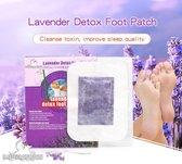 Detox Voetpleisters 10 Stuks - Detox-Pad - Tegen Slaap Problemen, Depressie Reuma, Gewrichtspijn, Slechte Adem - Stimuleert Bloedcirculatie - Zuivert Je Lichaam - Vitamine C - 100% Natuurlijk - Detox Pleister Voeten – Lavendel
