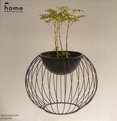 Home - Decoratieve Plantenpot - Staal - Kunststof - 26 cm x 33 cm