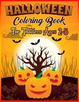 Halloween Coloring Book Toddlers Ages 2-5