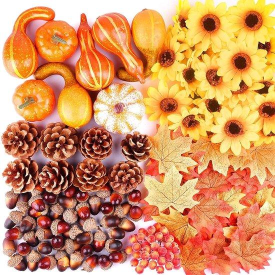Herfst Decoratie | Herfst | Pompoen, Eikels, Dennenappels Decoratie | Halloween | Kunstmatig | 156 Stuks