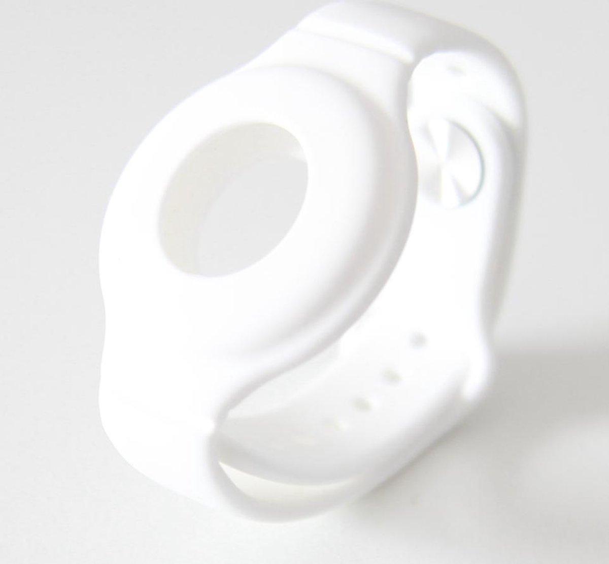 Nieuwe Model Apple Airtag Sleutelhanger   Airtag Polsband voor Kinderen (Vanaf 2 jaar) & Volwassenen  Wit