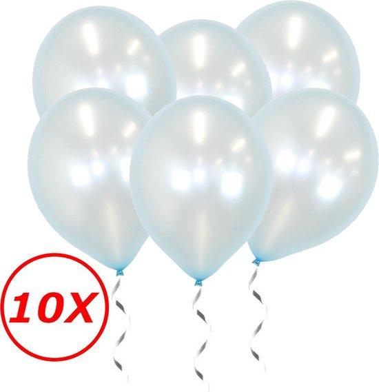 Licht Blauwe Ballonnen Metallic 10 Stuks Feestversiering Gender Reveal Verjaardag Ballon