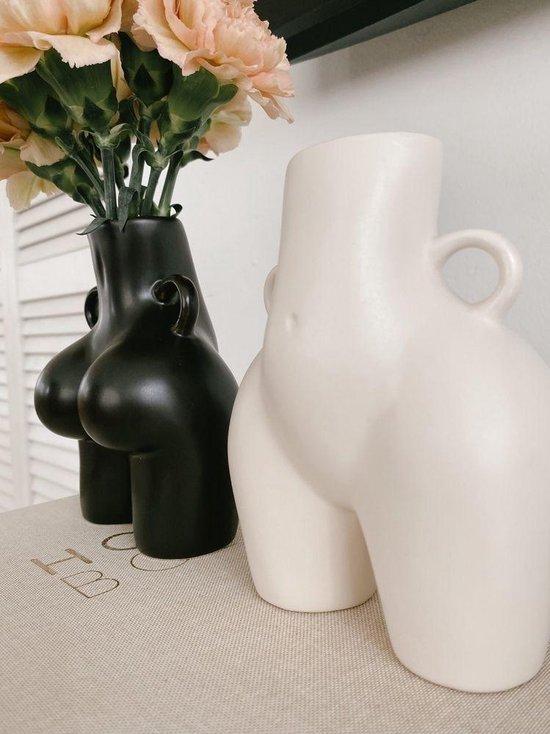 Keramische Bloemenvazen|Vrouwelijke Body Art vaas|butt vase| Vaas Voor Bloem Sculptuur|zwart groot