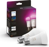 Philips Hue standaardlamp E27 Lichtbron - White and Color Ambiance - 2-pack -1100lm - Bluetooth