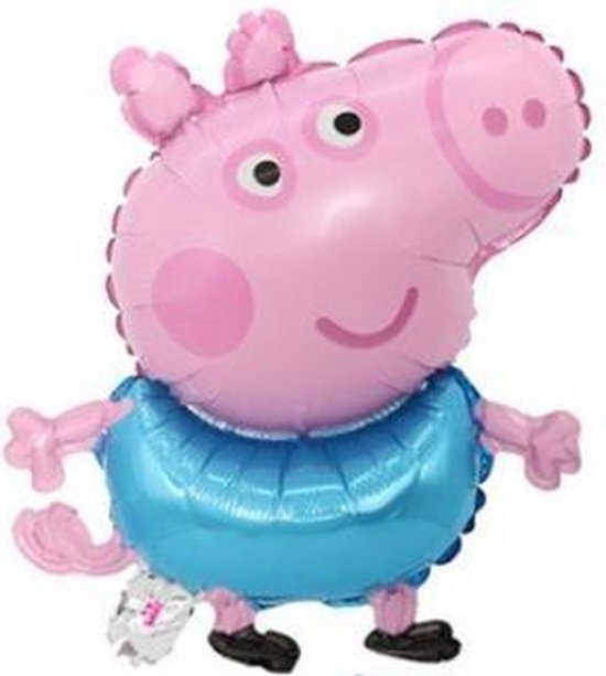 George Ballon - Peppa Pig - 51x41cm - Varken - Blauw - Ballonnen - Helium Ballon - Folie Ballon - Kinderverjaardag - Thema feest - Verrassing - Verjaardag - Folie ballon - Leeg - Versiering - Tekenfilm