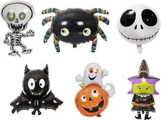Halloween Ballonnen - XL - Pakket 6 Stuks - Ballonnen set - Halloween - Thema feest - Verjaardag - Helium ballon - Horror - Folie ballon - Leeg - Halloween Versiering - Halloween accessoires - Halloween decoratie