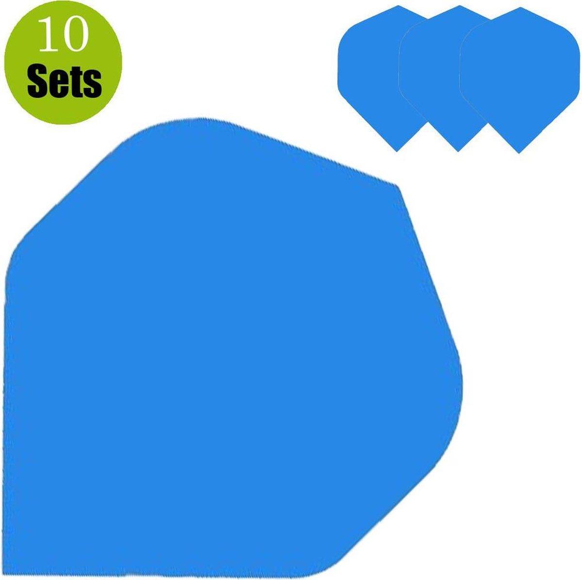 Poly Plain Dartflights - Blauw- (10 Sets)