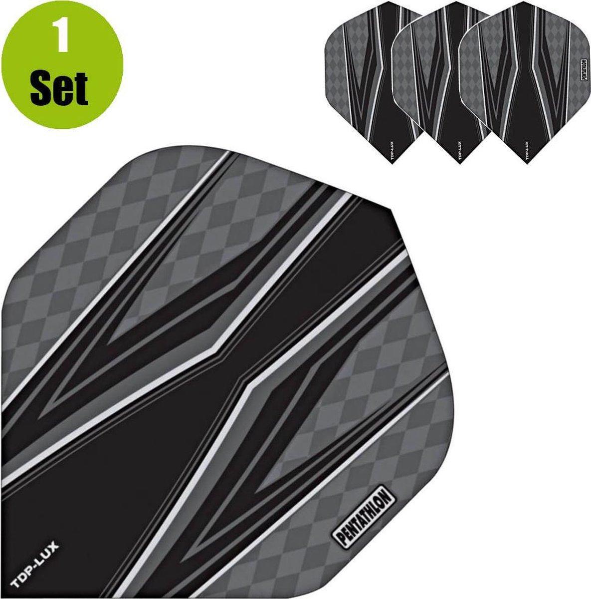 Pentathlon TDP Lux Vision Black Dartflights - Grijs- ()