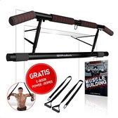101Products® Pull Up Bar - Optrekstang Deur - Dip Bars - Max200KG - Gratis E-book