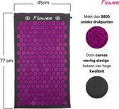Flowee Spijkermat – Grijs met Paars – (77cm x 45cm) – Acupressuur mat – Acupressure mat