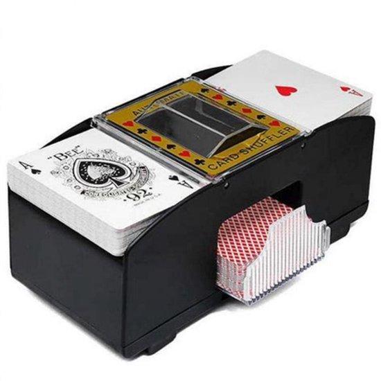Afbeelding van het spel Spilt Kaartschudmachine - Kaartenschudder Speelkaarten - Automatische Kaartschudder - Kaarten Schudder - Card Shuffler - 2 Sets Tegelijk