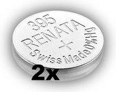 RENATA 395 / SR927SW zilveroxide knoopcel horlogebatterij 2 (twee) stuks