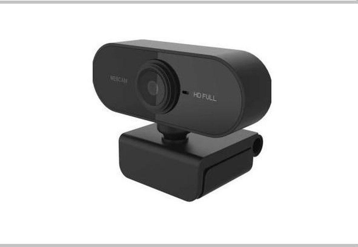 Webcam Full HD - 1080p - Draaibare Webcam met Microfoon - Zwart