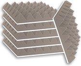 Zelfklevende geluidsisolatie pyramide   Akoestische panelen   Geluidsdemper   Studioschuim   30 x 30 x 5 cm   6 stuks - Grijs